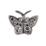 Butterfly - Silver & CZ Charms
